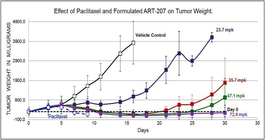 DOSE Response Study in Murine Model of Human Breast Cancer